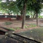 Neue Wege und Drainagen auf dem Campus